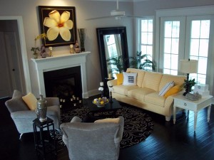 Seawatch Brisette family room after finishing touches by R. Richardson Interiors